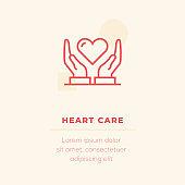 Heart Care Vector Icon, Stock Illustration