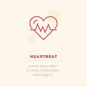 Heartbeat Vector Icon, Stock Illustration