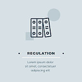 Regulation Vector Icon, Stock Illustration
