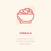 Cereals Vector Icon, Stock Illustration