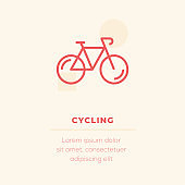Cycling Vector Icon, Stock Illustration