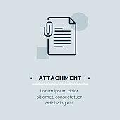 Attachment Line Icon, Stock Illustration
