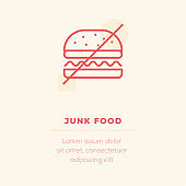 Junk Food Vector Icon, Stock Illustration