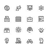 Corporate Business Outline Icon Set