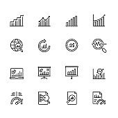 Financial Graph And Chart Icons