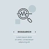 Research Line Icon, Stock Illustration