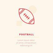 Football Vector Icon, Stock Illustration