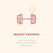 Weight Training Vector Icon, Stock Illustration