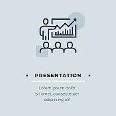 Presentation Vector Icon, Stock Illustration