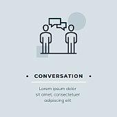 Conversation Vector Icon, Stock Illustration
