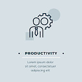 Productivity Vector Icon, Stock Illustration