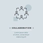 Collaboration Vector Icon, Stock Illustration