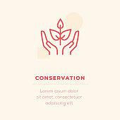 Conservation Line Icon, Stock Illustration