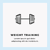 Weight Training Sinle Line Icon