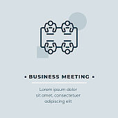 Business Meeting Vector Icon, Stock Illustration