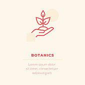 Botanics Line Icon, Stock Illustration