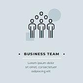 Business Team Vector Icon, Stock Illustration