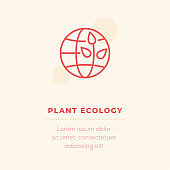 Plant Ecology Line Icon, Stock Illustration