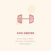 GYM Center Vector Icon, Stock Illustration