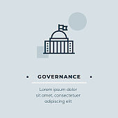 Governance Vector Icon, Stock Illustration