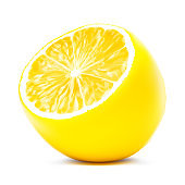 Slice of lemon isolated on white background.Vector illustration. Can be use for your design. ESP10