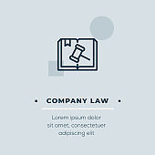 Company Law Vector Icon, Stock Illustration