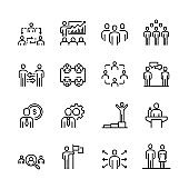 Business People Icon Set, Vector, Stock Illustration