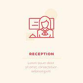 Reception Vector Icon, Stock Illustration