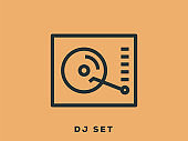 DJ Set Outline Icon
