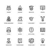 Educational Line Icon Set