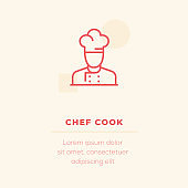 Chef Cook Vector Icon, Stock Illustration
