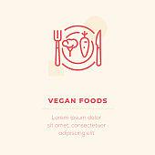 Vegan Food Vector Icon, Stock Illustration