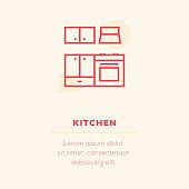 Kitchen Vector Icon, Stock Illustration
