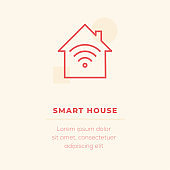 Smart House Vector Icon, Stock Illustration