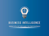 Business Intelligence Flat Icon Design