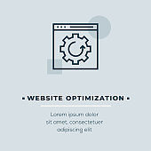 Website Optimization Vector Icon, Stock Illustration