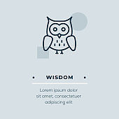 Wisdom Line Icon, Stock Illustration