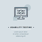 Usability Testing Vector Icon, Stock Illustration