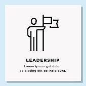 LEADERSHIP SINGLE ICON DESIGN. STOCK VECTOR ILLUSTRATION