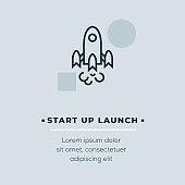 Start Up Launch Vector Icon, Stock Illustration