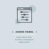 Admin Panel Vector Icon, Stock Illustration