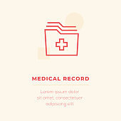 Medical Record Vector Icon, Stock Illustration