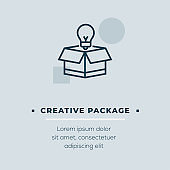 Creative Package Vector Icon, Stock Illustration