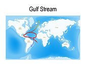 The Gulf Stream is a warm and swift Atlantic ocean current that originates in the Gulf of Mexico.