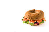 Bagel sandwich with cream cheese