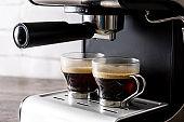 Close up fresh coffee