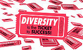 Diversity Cultural Differences Heritage Ticket Success 3d Illustration