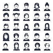 Simple avatar icons.