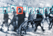 face recognition technology concept of big data and security in city
