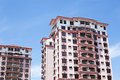A typical house in Malaysia. facade of a building